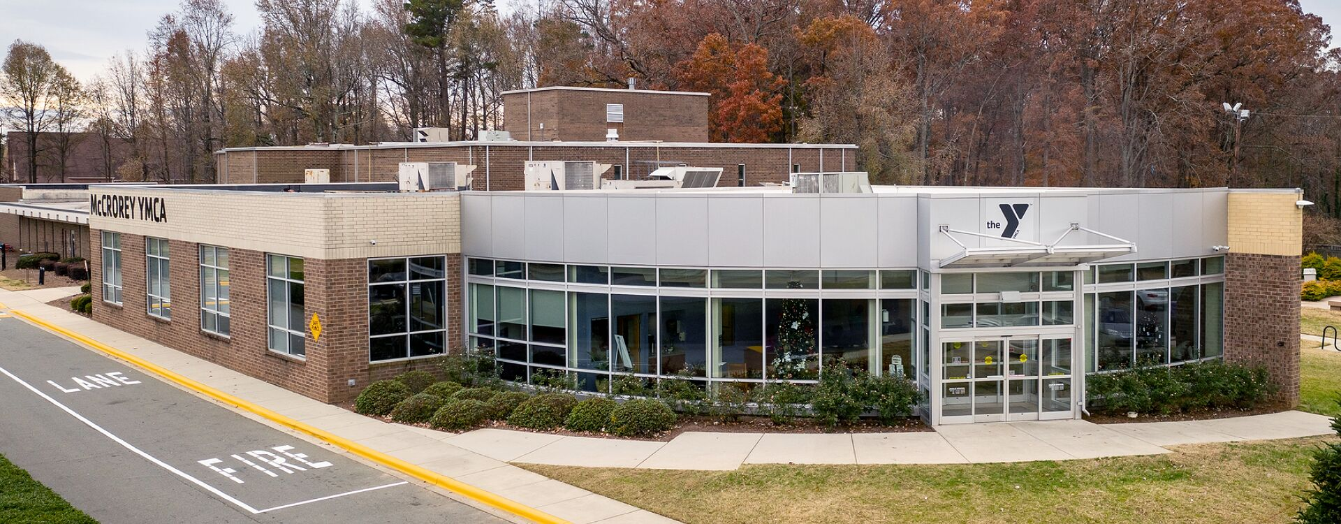 A Striking Front View of McCrorey YMCA of Charlotte