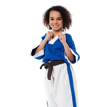 Little girl kung fu expert is ready for some action. Are you?